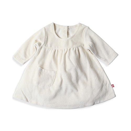 Zutano Baby Girls' Velour Little Pocket Dress - Cream, 12 Months