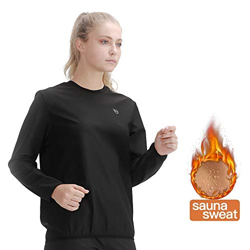 365 DAYS Sauna Suit for Women Weight Loss Sweat Suit Slim Fitness Clothes (Large, Long Sleeve Top)