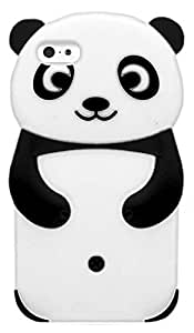 LliVEER Cute Animal Panda Silicone Soft Case Cover for 4.7 inch Apple iPhone 6/Black
