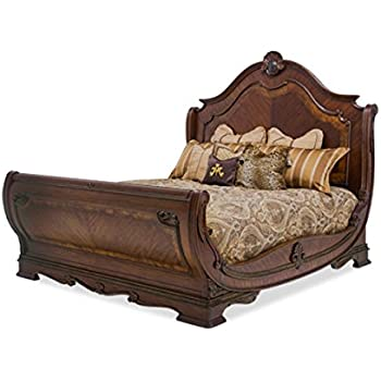 Bella Veneto 4pc Sleigh Bedroom Furniture Set By AICO   Cognac Finish