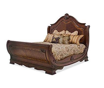 Amazon.com: Bella Veneto 4pc Sleigh Bedroom Furniture Set by AICO ...