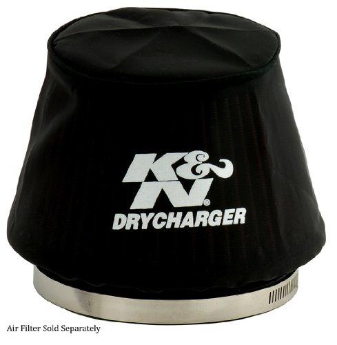 K&N RU-5163DK Black DryCharger Air Filter Wrap (Drycharger Air Filter Wrap)