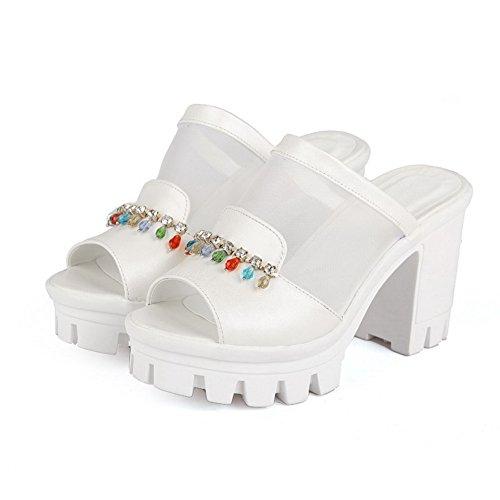 5 Blanc Blanc Femme EU AdeeSu Bout Ouvert 36 IYazxxSqw
