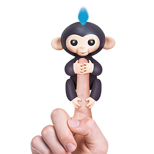 Fingerlings Monkey Toy,FUNIC Wow Wee Fingerlings Pet Electronic Little Baby Monkey Children Kids Toy (Black And White Halloween Mask Printables)