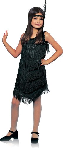 Black Flapper Girl Kids Costume ()