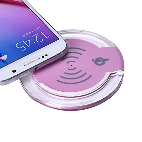 Picture of an AutumnFall Qi Wireless Charger Charging 641076058474