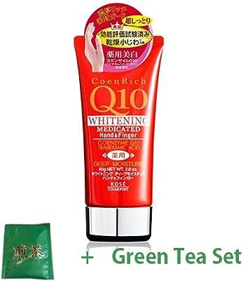 Kose Coen Rich Q10 Medicated Deep Moisture Hand Cream 80g (Green Tea Set)