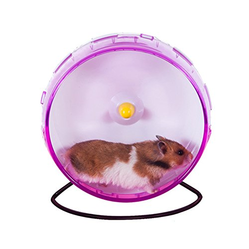 Petacc Hamster Exercise Wheel Hamster Toy Small Animal Wheel with Holder, 8'' Diameter (Pink) by Petacc (Image #6)