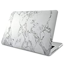 "Marble MacBook Pro 13"" w/ Retina Display Case Cover, Novo Rubberized Hard Shell w/ Soft Touch Matte Finish, Best Protection for Your Apple MBP 13 inch w/ Retina Display (No CD-ROM Drive)"