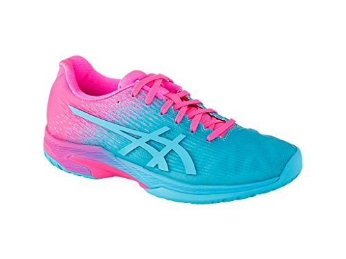 (ASICS Women's Solution Speed FF L.E. Athletic Shoes (9.5, Aquarium/HOT Pink))