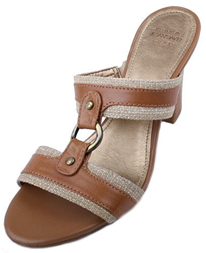 Circa Joan & David Women's Jacline Sandal,Natural/Light Brown,8 M US