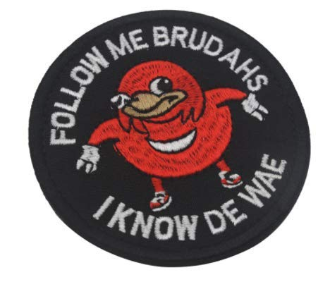 Ugandan Knuckles Follow Me Brudahs I Know De Wae Military for sale  Delivered anywhere in USA