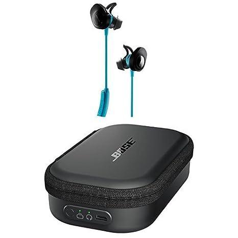Bose SoundSport - Auriculares inalámbricos (Bluetooth, NFC, micrófono) color azul + Estuche