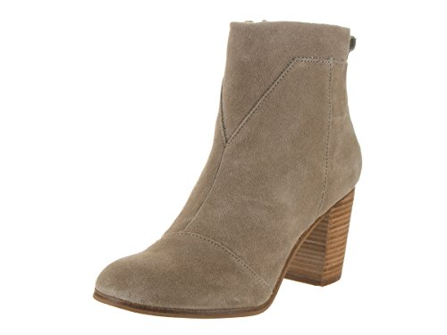 Toms Lunata Booties Taupe Seude Womens 7.5