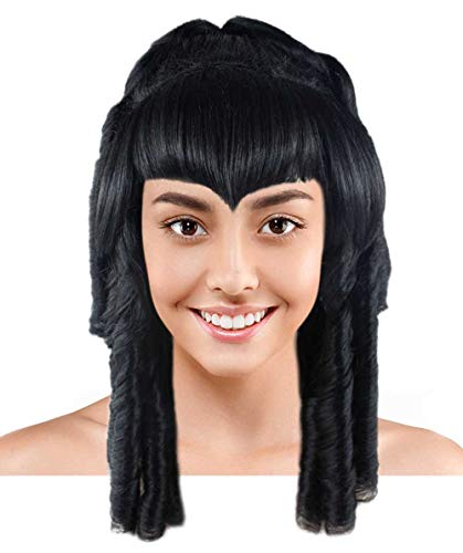 Halloween Party Online Curly Gothic Vampire Wig, Black Adult HW-1730A
