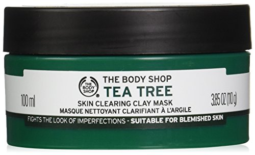 The Body Shop Tea Tree Skin Clearing Clay Face Mask, 3.85 Oz Oil Absorbing Clay