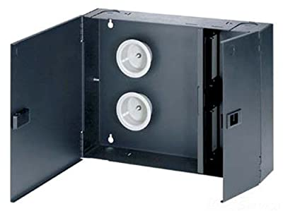 Panduit FWME4 2-Door 4-Adapter Panel Wall-Mount Enclosure, Black
