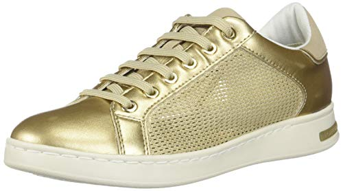 Geox Femme champagne Basses A D Cb52x Or gold Jaysen Sneakers r0qrTB