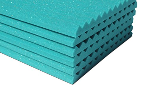 "Soundproofing Acoustic Studio Foam - Teal Color - Wedge Style Panels 12""x12""x1"" Tiles - 6 Pack by SoundAssured (Image #7)"