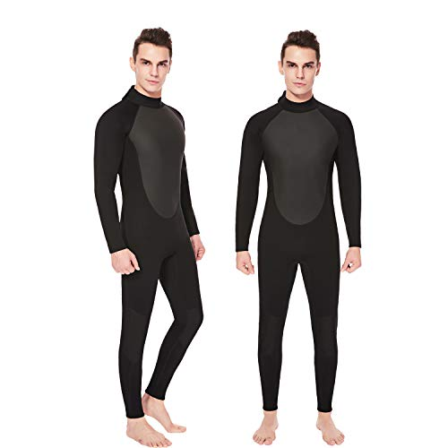 851f1f4680 Flexel Full Suit Mens Wetsuit Neoprene Premium Long Sleeve with Back Zip  One Piece Swimsuit UV