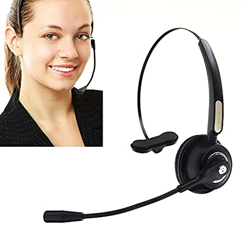 Call Center Headset Wireless Bluetooth Pro BizoeRade Noise Cancelling Headset with Microphone for Cell Phone Laptop (Not include Bluetooth Receiver)