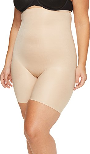 SPANX Plus Size Power Conceal-Her Medium Control High-Waist Short, 1X, Natural Glam