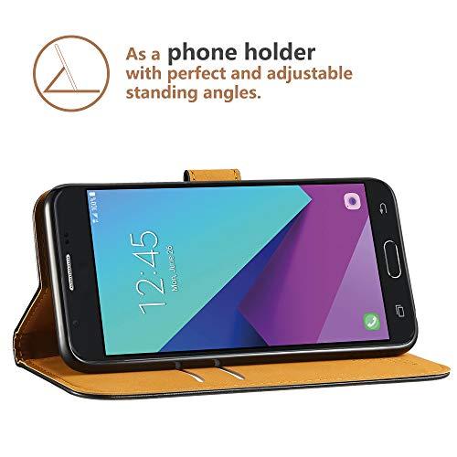 Détails sur Anjoo Coque Compatible pour Samsung Galaxy J3 2017, Housse en Cuir avec Magnetiq