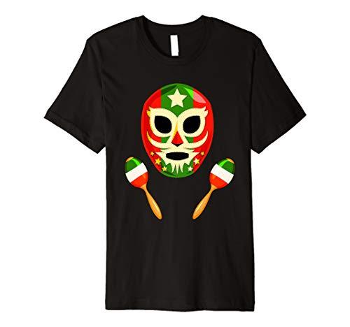 (Cinco De Mayo Luchador Mask Mexico Maracas Funny T)