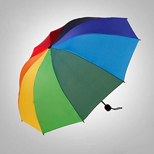 Rain Gear Outdoor Functional Portable Rainproof Canopy Ergonomic Handle Travel Umbrella with 10 Reinforced Fiberglass Ribs Folding Umbrella ()