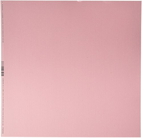 Bazzill 300877 Cardstock Berry Blush Pink 12X12 80Lb Fours (Cardstock Bazzill Paper)