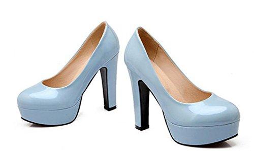 Aisun Scarpe Da Donna Eleganti Scarpe Da Ginnastica Basse A Taglio Basso Blu