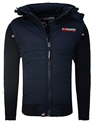 Geographical norway steppjacke mit abnehmbaren armel
