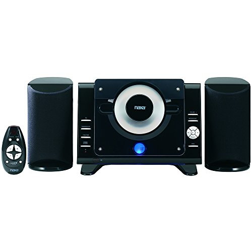 Naxa Digital MP3/CD Microsystem with AM/FM Stereo Radio - 1 Year Direct Manufacturer Warranty