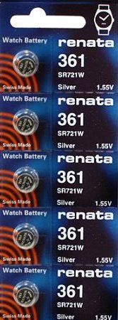 361 Watch Battery (361 Watch battery - Strip of 5 Batteries)