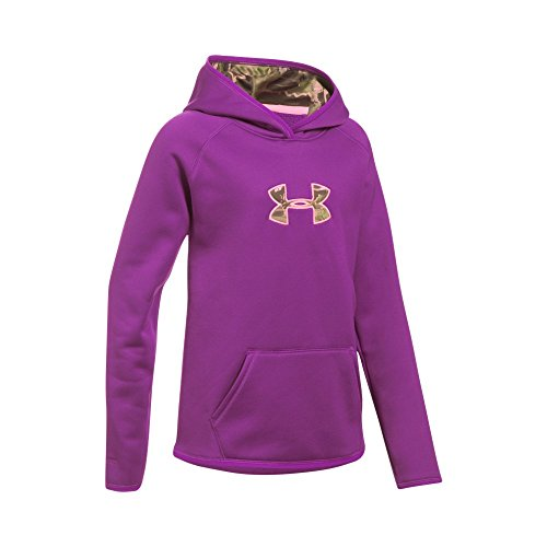 Under Armour Girls' Icon Caliber, Purple Rave/Pop Pink, Youth Medium