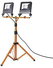 LEDVANCE Oprawa do oświetlenia roboczego LED: for podłoga, WORKLIGHTS - TRIPOD / 100 W, 220…240 V, kąt rozsyłu światła: 120°, Zimna biel, 4000 K, materiał: aluminum/steel, IP65
