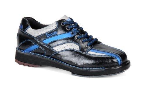 Dexter Men's SST 8 SE Bowling Shoes, Black/Silver/Blue, 7.5 Wide by Dexter