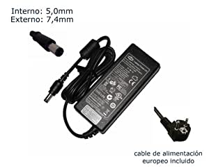 """Cargador de portátil Dell AC Adapter (XK850) (DA65NS4-00) Alimentación, adaptador, Ordenador Portatil transformador - Marca """"Laptop Power""""® (12 meses de garantía y cable de alimentación europeo incluido)"""