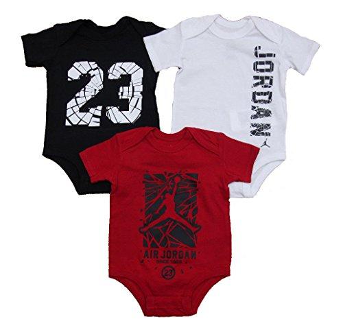 (Nike Jordan Infant New Born Baby Bodysuit 3 Pcs Layette Set (3/6M))