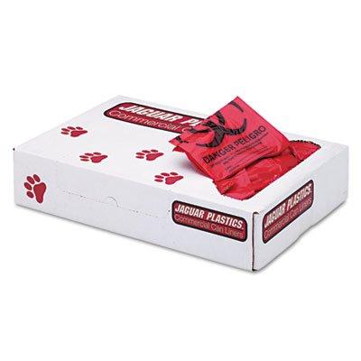 Health Care ''Biohazard'' Printed Liners, 1.3mil, 24 x 32, Red, 250/Carton, Sold as 1 Carton, 250 Each per Carton