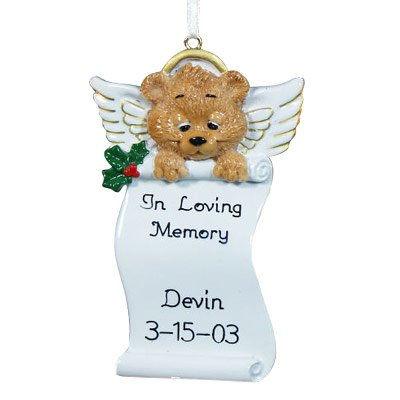Personalized Angel Bear Memorial (Personalized Angel Bear)
