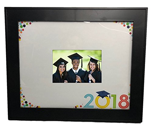 Graduation Class of 2018 Black Photo Frame with 11x14 inch Signature Mat and Autograph Pen
