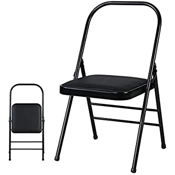Amazon.com: CJC Chairs Folding Yoga Backless Standard Prop ...