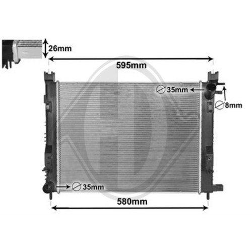 Diederichs DCM1886 Radiator, radiator: