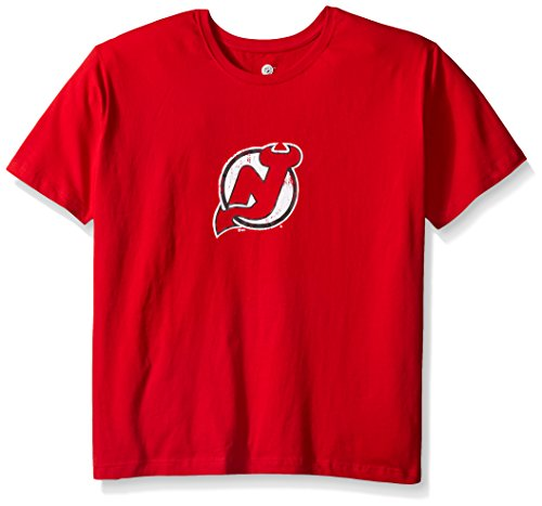 Profile Big & Tall NHL New Jersey Devils Women's Short Sleeve Scoop Neck Screen Print T-Shirt, 1X, Red