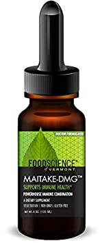 FoodScience of Vermont- Maitake DMG, Immune Support Supplement, 4 Liquid Oz.