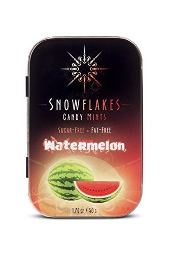 Snowflakes Birch Xylitol Candy -No GMO, Corn, Gluten, Wheat, Soy or Dairy (Watermelon)
