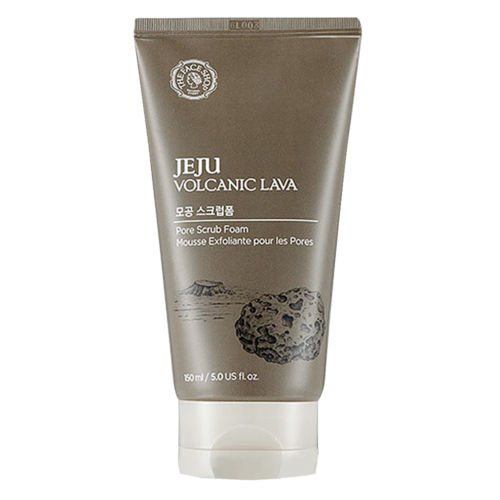 [THEFACESHOP] Jeju Volcanic Lava Pore Exfoliator Foaming Scrub For Facial Blackhead Cleansing (150 mL/5.0 Oz)