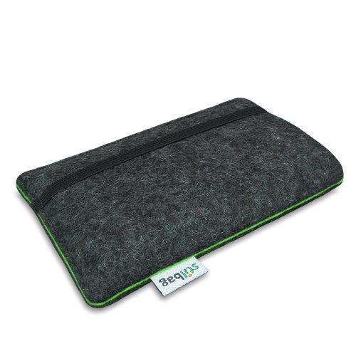 Stilbag Filztasche 'FINN' für Apple iPhone 6s plus - Farbe: anthrazit/grün