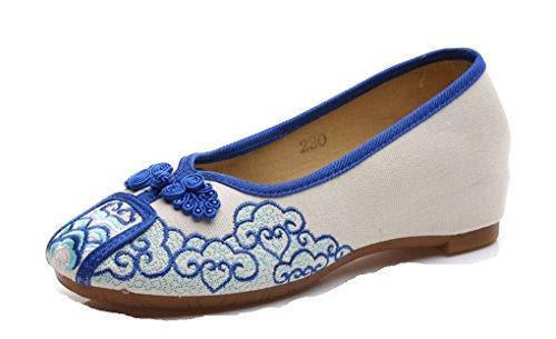 Tela Sandalias Azul Mujer Tianrui Crown de FwqAWazx